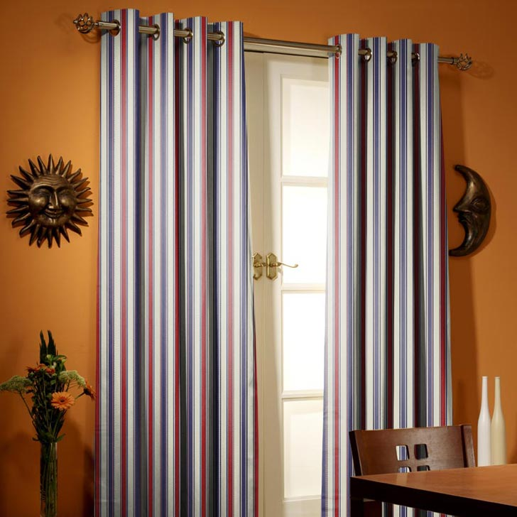 Prestigious Purbeck Nautical Pencil Pleat Curtains