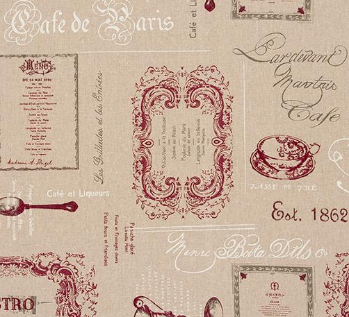Clarke & Clarke Bistro Bordeaux