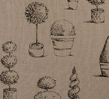 Clarke & Clarke Topiary Linen