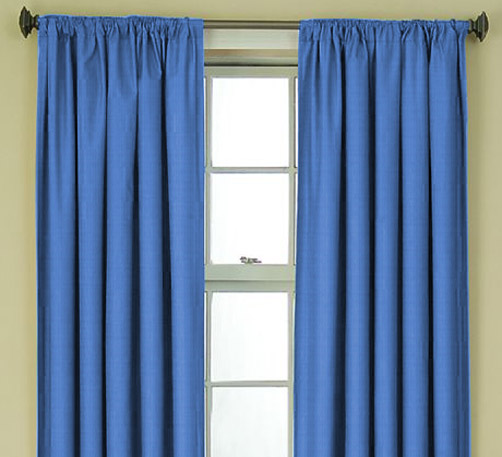 Scava Blue Curtain Made To Order