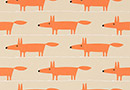 Scion Mr Fox Applique Tangerine/Linen