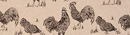 Clarke & Clarke Chickens Noir