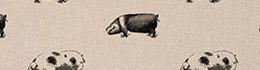 Clarke & Clarke Pigs Noir