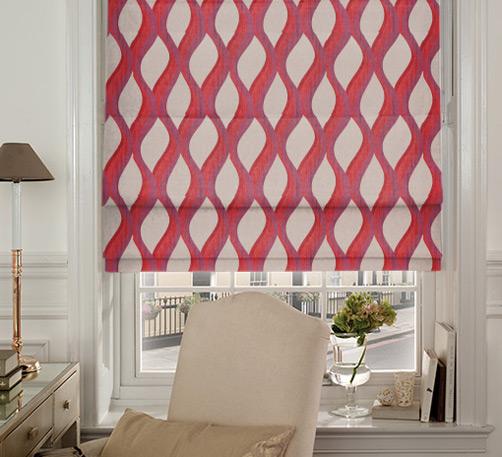 Prestigious Textiles Bari Berry Roman Blinds | Blinds Direct