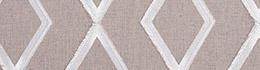 Tissu Origins Losange Blanc Lin