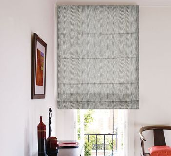 Voile Optik Faux Uni Vague Gris