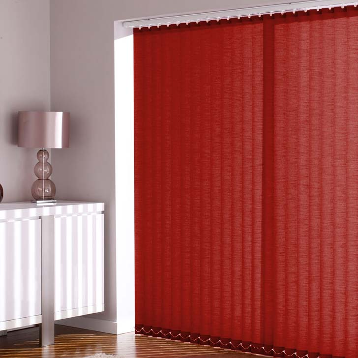 Vision Chilli Red Vertical Blinds