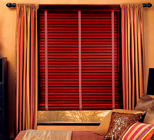 Beautiful Red Wooden Blinds